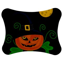 Halloween Witch Pumpkin Jigsaw Puzzle Photo Stand (bow)