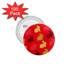 Hare Easter Pattern Animals 1.75  Buttons (100 pack)