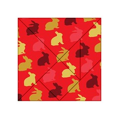 Hare Easter Pattern Animals Acrylic Tangram Puzzle (4  x 4 )