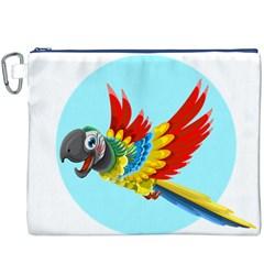 Parrot Canvas Cosmetic Bag (XXXL)