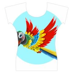 Parrot Women s Cap Sleeve Top