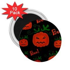 Halloween pumpkin pattern 2.25  Magnets (10 pack)