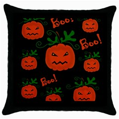 Halloween pumpkin pattern Throw Pillow Case (Black)