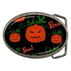 Halloween pumpkin pattern Belt Buckles