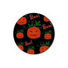 Halloween pumpkin pattern Magnet 3  (Round)