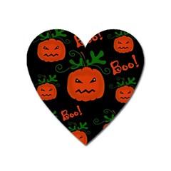 Halloween pumpkin pattern Heart Magnet