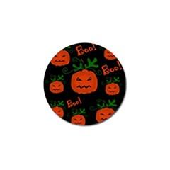 Halloween pumpkin pattern Golf Ball Marker