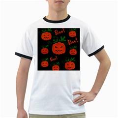 Halloween pumpkin pattern Ringer T-Shirts