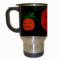Halloween pumpkin pattern Travel Mugs (White)