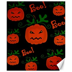 Halloween pumpkin pattern Canvas 8  x 10