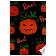 Halloween pumpkin pattern Canvas 24  x 36
