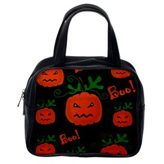 Halloween pumpkin pattern Classic Handbags (One Side)