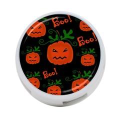 Halloween pumpkin pattern 4-Port USB Hub (One Side)