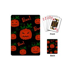 Halloween pumpkin pattern Playing Cards (Mini)