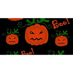 Halloween pumpkin pattern YOU ARE INVITED 3D Greeting Card (8x4)
