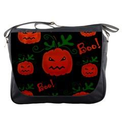 Halloween pumpkin pattern Messenger Bags