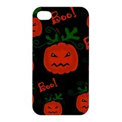Halloween pumpkin pattern Apple iPhone 4/4S Premium Hardshell Case