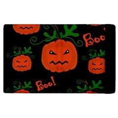 Halloween pumpkin pattern Apple iPad 2 Flip Case
