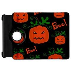 Halloween pumpkin pattern Kindle Fire HD Flip 360 Case