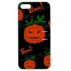 Halloween pumpkin pattern Apple iPhone 5 Hardshell Case with Stand