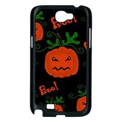 Halloween pumpkin pattern Samsung Galaxy Note 2 Case (Black)