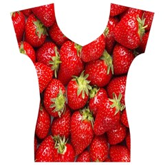 Red Fruits Women s V-Neck Cap Sleeve Top