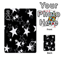 Star Black White Playing Cards 54 Designs