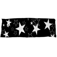 Star Black White Body Pillow Case (dakimakura)