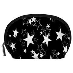 Star Black White Accessory Pouches (large)