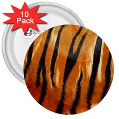Tiger 3  Buttons (10 Pack)