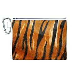 Tiger Canvas Cosmetic Bag (L)