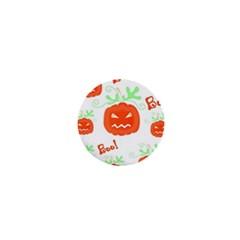 Halloween pumpkins pattern 1  Mini Buttons