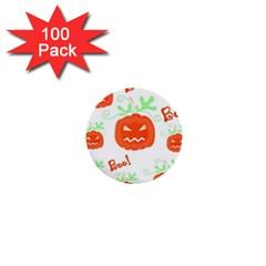 Halloween pumpkins pattern 1  Mini Buttons (100 pack)