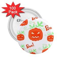 Halloween pumpkins pattern 2.25  Buttons (100 pack)