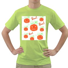 Halloween pumpkins pattern Green T-Shirt