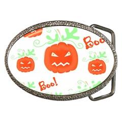 Halloween pumpkins pattern Belt Buckles