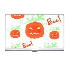 Halloween pumpkins pattern Business Card Holders