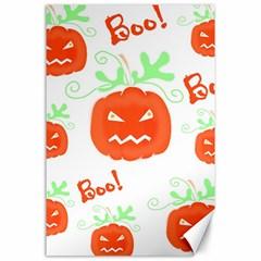 Halloween pumpkins pattern Canvas 24  x 36