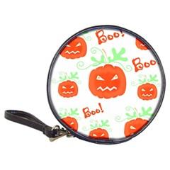 Halloween pumpkins pattern Classic 20-CD Wallets