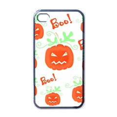 Halloween pumpkins pattern Apple iPhone 4 Case (Black)