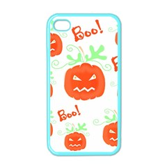 Halloween pumpkins pattern Apple iPhone 4 Case (Color)