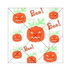 Halloween pumpkins pattern Acrylic Tangram Puzzle (6  x 6 )