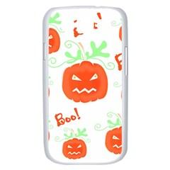 Halloween pumpkins pattern Samsung Galaxy S III Case (White)