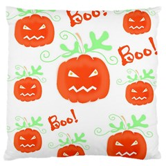 Halloween pumpkins pattern Large Cushion Case (Two Sides)
