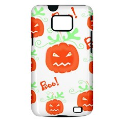 Halloween pumpkins pattern Samsung Galaxy S II i9100 Hardshell Case (PC+Silicone)