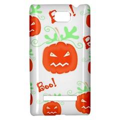 Halloween pumpkins pattern HTC 8S Hardshell Case