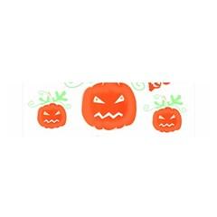 Halloween pumpkins pattern Satin Scarf (Oblong)