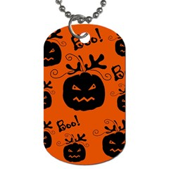 Halloween black pumpkins pattern Dog Tag (Two Sides)