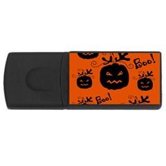 Halloween black pumpkins pattern USB Flash Drive Rectangular (2 GB)