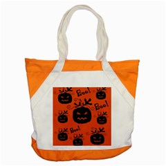 Halloween black pumpkins pattern Accent Tote Bag